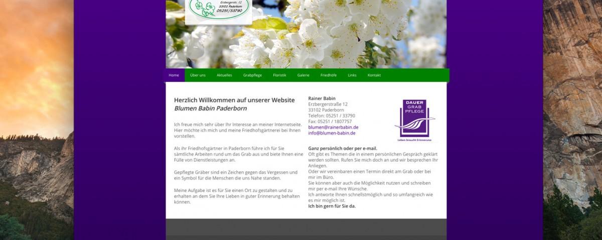 Blumen Babin Webdesign Paderborn