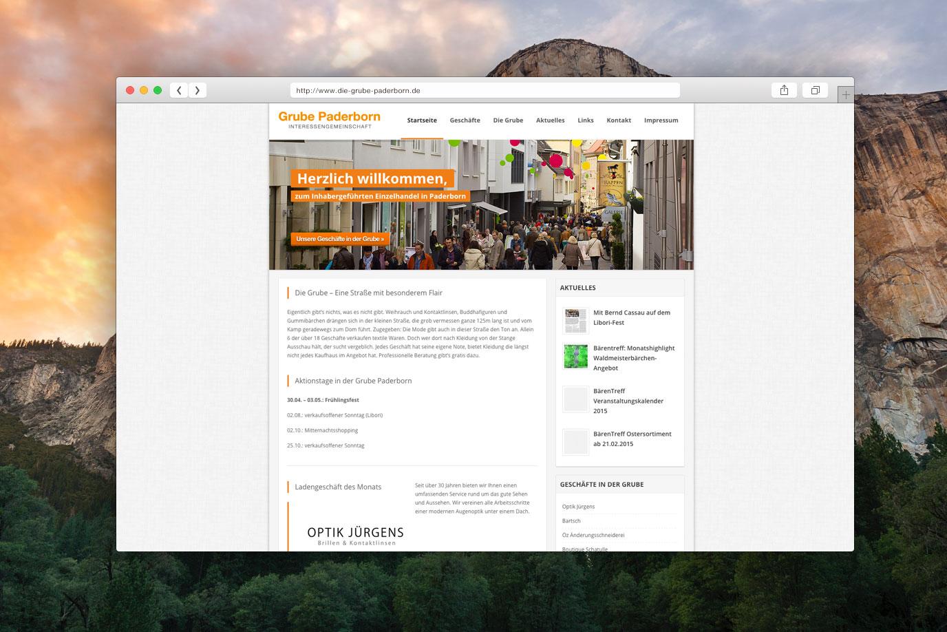 Webdesign Die Grube Paderborn