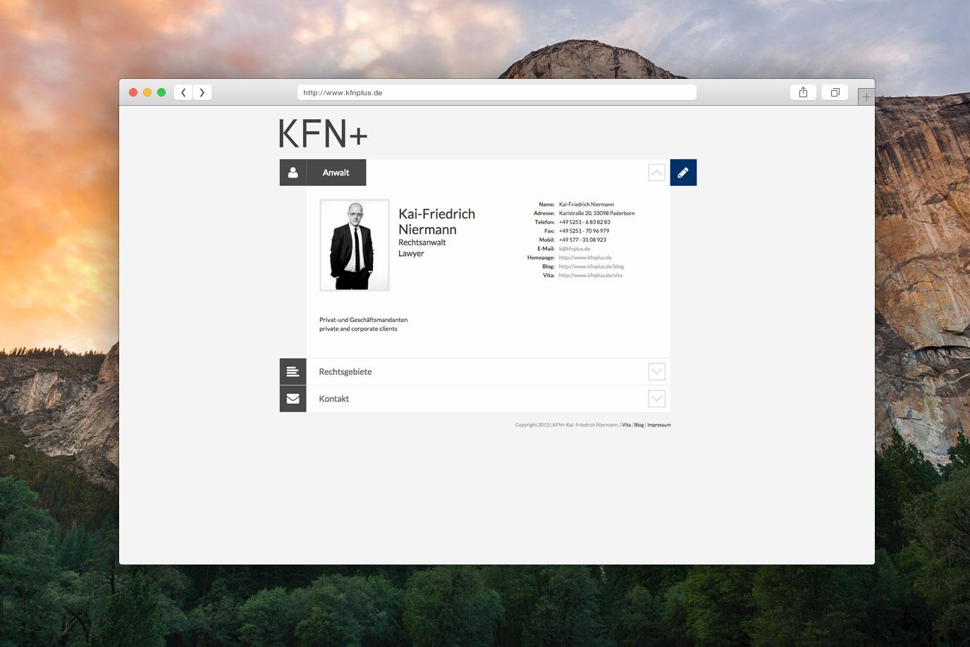 Webdesign Rechtsanwalt Paderborn KFN+