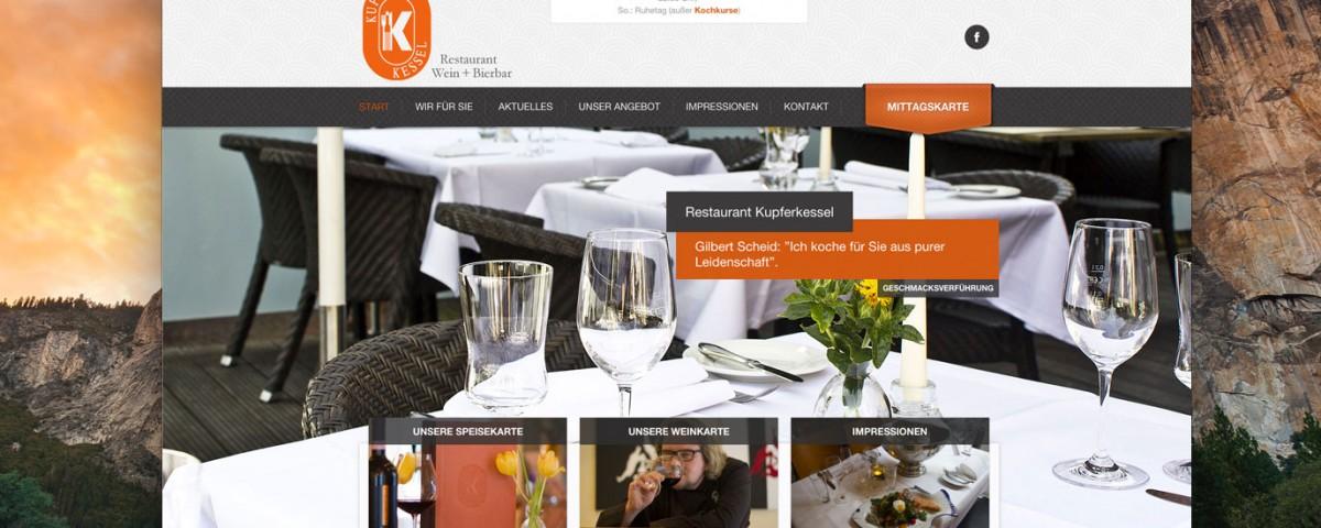 Restaurant Kupferkessel Paderborn Webdesign Baasch Media