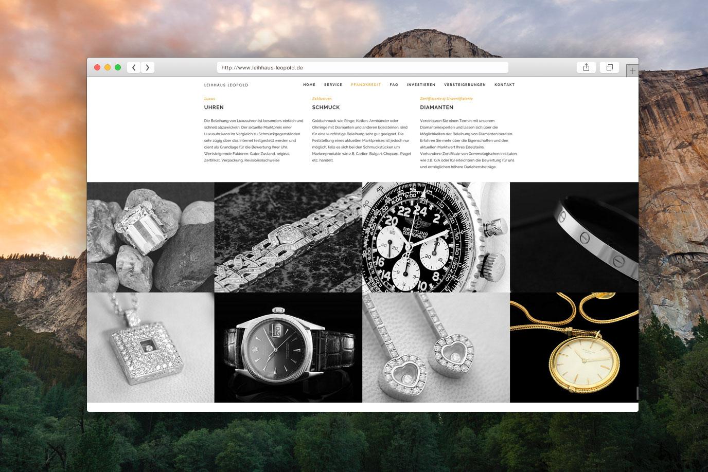 Leihhaus Leopold Berlin Webdesign aus Paderborn