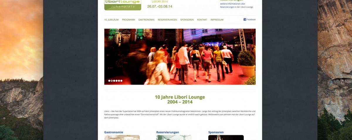 Webdesign Libori Lounge Paderborn