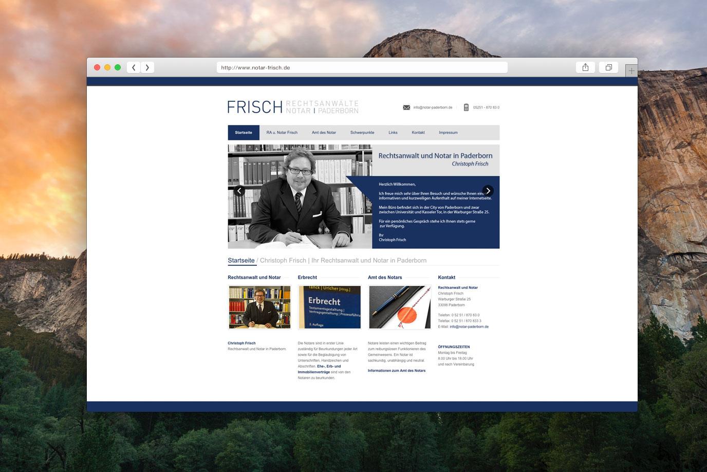 Webdesign Notar Paderborn