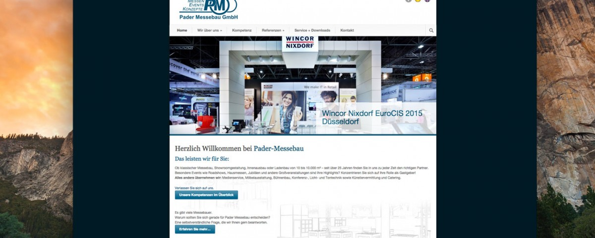 webdesign für pader messebau in paderborn