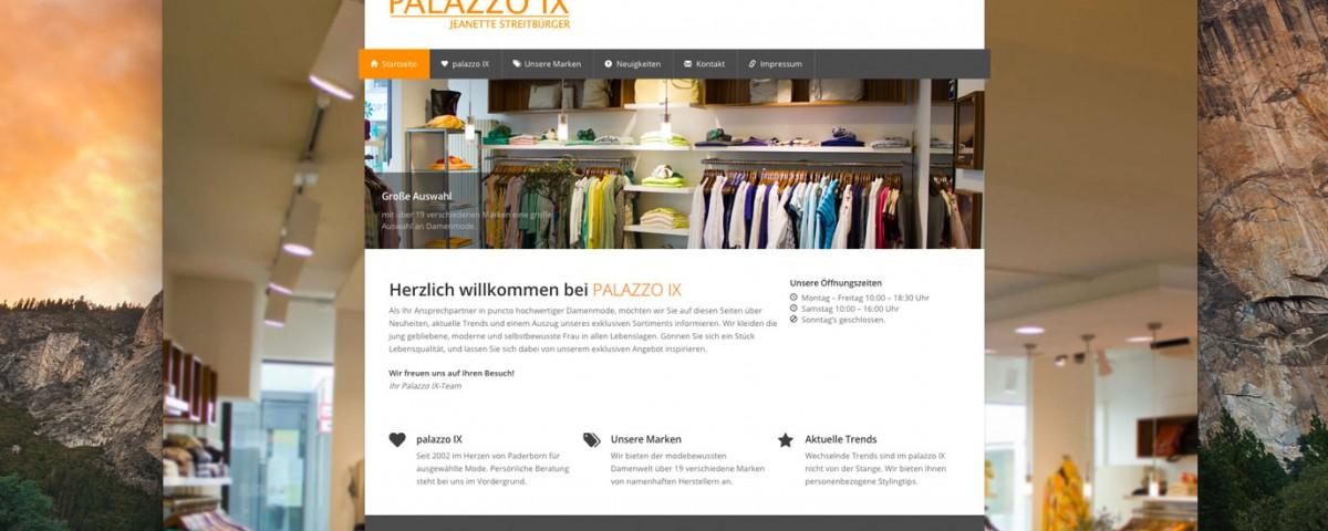 Webdesign Shop Paderborn Palazzo IX