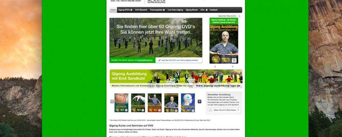 Qigong DVD Online Shop Webdesign