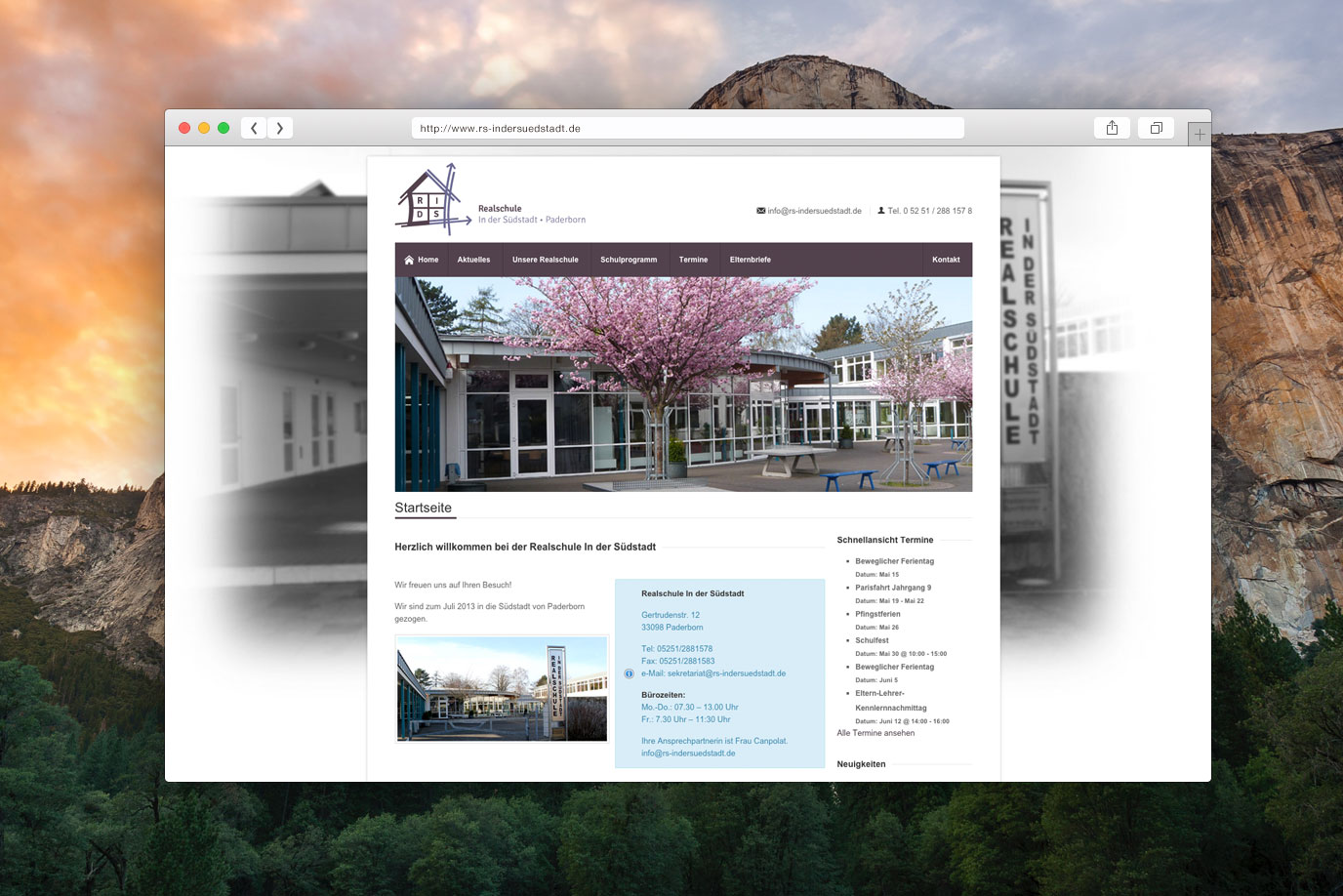 Realschule Paderborn Webdesign by Baasch Media