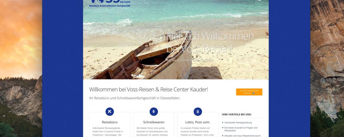 Webdesign VOSS Reisen Paderborn